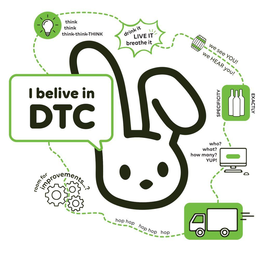 Bunny dreaming of DTC magic