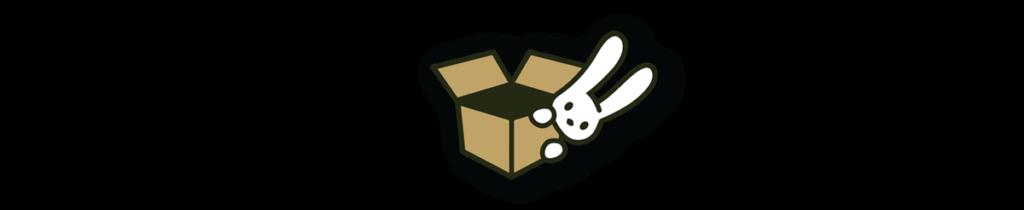 OOTB Bunny peeking from behind a box